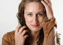 Woman with wet hair Stock Image