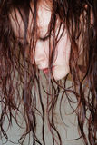 Woman with wet hair. Royalty Free Stock Images