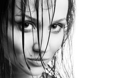 Woman with wet hair Royalty Free Stock Photo