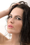 Woman with wet hair Royalty Free Stock Photography