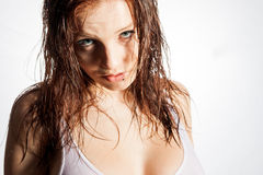 Woman with wet hairs Stock Photography