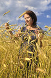 Woman in wheat. Royalty Free Stock Image