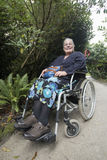 Woman in Wheel Chair Stock Image