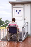 Woman in wheelchair Royalty Free Stock Photography