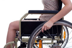 Woman on the wheelchair Royalty Free Stock Photos