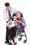 Woman in wheelchair and doctor Stock Photos
