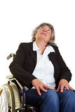 Woman in wheelchair looking up Royalty Free Stock Images