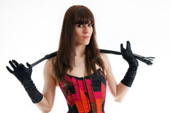 Woman and whip Stock Image