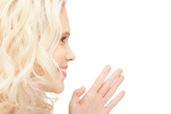 Woman whispering gossip Royalty Free Stock Photo