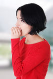 Woman whispering a message Royalty Free Stock Photography