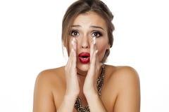 Woman whispering Stock Photo