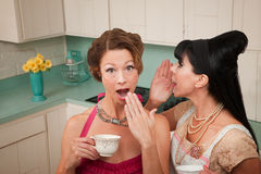 Woman Whispers a Secret Royalty Free Stock Photo