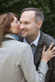 Woman whispers secrets Royalty Free Stock Images