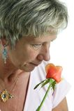 Woman whit flower Royalty Free Stock Photo