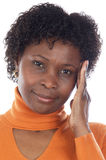 Woman whit headache Stock Images