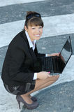 Woman whit the lap top Stock Photo