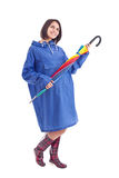 Woman whit rainbow umbrella Royalty Free Stock Image