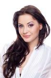 Woman on white royalty free stock photos