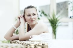 Woman in white Royalty Free Stock Photos