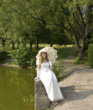 Woman in white Royalty Free Stock Photo