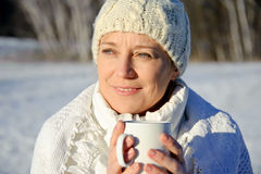 Woman in white Royalty Free Stock Image