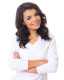 Woman on white Stock Image