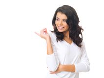 Woman on white Stock Images