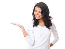 Woman on white Royalty Free Stock Photo