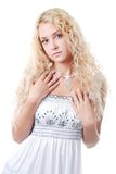 Woman in white Royalty Free Stock Images