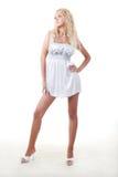 Woman in white Royalty Free Stock Photos