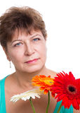 Woman on a white background Royalty Free Stock Image