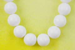 Woman white beads Stock Images