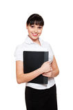 Woman in white blouse stock image