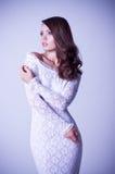 woman in white bridal dress Royalty Free Stock Photo