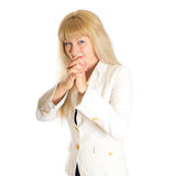 Woman in a white coat Stock Photos