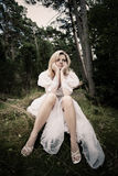 Woman in white dress Royalty Free Stock Images