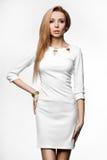 Woman in white dress Stock Photos