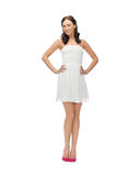 Woman in white dress Royalty Free Stock Photography