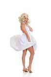 Woman white dress Stock Image