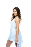 A woman in a white dress Royalty Free Stock Photos