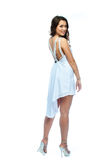 A woman in a white dress Royalty Free Stock Image