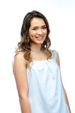A woman in a white dress Stock Photo