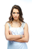 A woman in a white dress Stock Image
