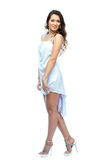 A woman in a white dress Stock Photography