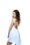 A woman in a white dress Royalty Free Stock Photography