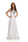 Woman in White Gown Royalty Free Stock Image
