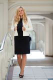 Woman in a white jacket Stock Photos
