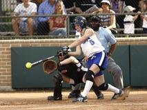 Woman in White Jersey Shirt Playing Baseball during Daytime Stock Photos
