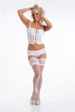 Woman In White Lingerie Royalty Free Stock Photos