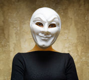 Woman in white mask Royalty Free Stock Photography